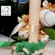 lumanare de botez cu girafa haioasa