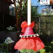 lumanare de botez fetita cu palarie mexicana