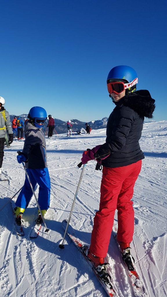 Copii la schi